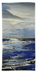 Hand Towel featuring the painting Meaning And Hue by Tatiana Iliina