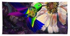 Bath Towel featuring the digital art Mecha Whirlygig by Iowan Stone-Flowers