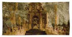 Paris, France - Medici Fountain Oldstyle Hand Towel