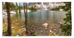 Medicine Bow Snowy Mountain Range Lake View Bath Towel