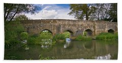Medieval Bridge Hand Towel by Scott Carruthers
