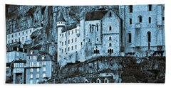 Medieval Castle In The Pilgrimage Town Of Rocamadour Bath Towel