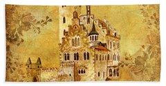 Medieval Golden Castle Hand Towel