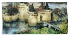 Medieval Knight's Castle Hand Towel by Sergey Lukashin