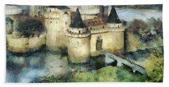 Medieval Knight's Castle Bath Towel by Sergey Lukashin