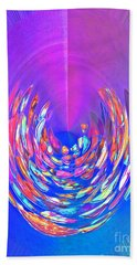 Hand Towel featuring the photograph Meditation In Blue by Nareeta Martin
