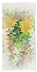Meditation Pond Hand Towel by Ann Johndro-Collins