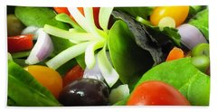 Mediterranean Salad Bath Towel