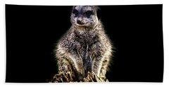 Meerkat Lookout Hand Towel by Martin Newman