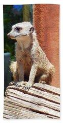 Meerkat Sentry Hand Towel