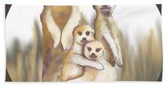 Meerkats  Hand Towel