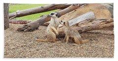 Meerkats  Bath Towel