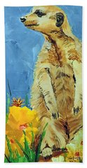 Meerly Curious Bath Towel by Tom Riggs