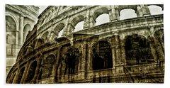 Meet Me At The Colosseum Bath Towel