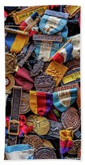 Bath Towel featuring the photograph Meet Medals by Christopher Holmes