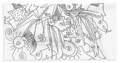 Meeting Under The Stars Hand Towel