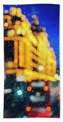 Melancholic London Lights  Hand Towel