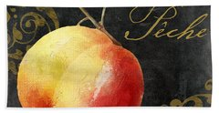Melange Peach Peche Hand Towel by Mindy Sommers
