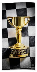 Melbourne Cup Pin On Mens Chequered Fashion Tie Bath Towel