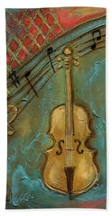 Mello Cello Hand Towel by Terry Webb Harshman