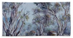 Hand Towel featuring the painting Melrose, South Australia by Ryn Shell