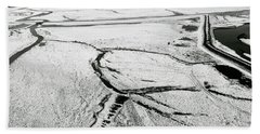 Bath Towel featuring the photograph Melting Ice Patterns In Iceland by Pradeep Raja PRINTS