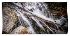 Melting Snow Falls Bath Towel by Elaine Malott