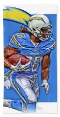 Melvin Gordon San Diego Chargers Oil Art Hand Towel