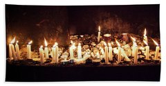 Memorial Candles Bath Towel
