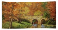 Memories At Stone Bridge Hand Towel