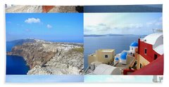 Hand Towel featuring the photograph Memories From Santorini by Ana Maria Edulescu