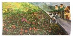 Memories Of Commonwealth - Wall II Bath Towel by Belinda Low