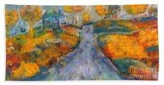 Memories Of Home In Autumn Bath Towel