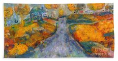 Memories Of Home In Autumn Bath Towel
