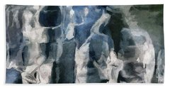 Memory Hotel - Dark Canvas Abstract Art Bath Towel
