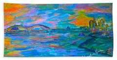 Bath Towel featuring the painting Memphis Edge  by Kendall Kessler