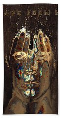 Men Are From Mars Gold Hand Towel by ISAW Gallery