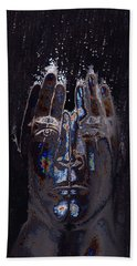 Men Are From Mars Silver Hand Towel by ISAW Gallery