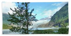 Hand Towel featuring the photograph Mendenhall Glacier View From Path by Janette Boyd