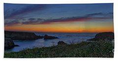 Mendocino Headlands Sunset Bath Towel