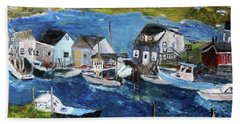 Menemsha Fishing Village Bath Towel