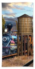 Menlo Park Tower Bath Towel by Ron Chambers