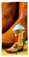 Men's Boots And Ornament Hand Towel