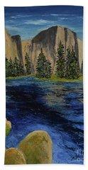 Merced River, Yosemite Park Bath Towel