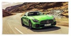 Mercedes A M G  G T  R Hand Towel