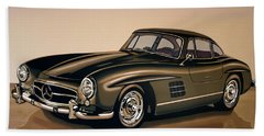 Mercedes Benz 300 Sl 1954 Painting Hand Towel