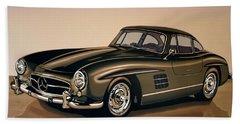 Mercedes Benz 300 Sl 1954 Painting Bath Towel