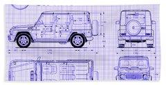 Mercedes Benz G 65 Amg Blueprint Hand Towel