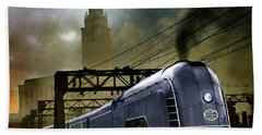 Mercury Train Hand Towel by Steven Agius