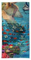 Mermaid In Paradise Bath Towel